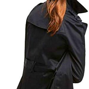 BEBE Satin trench back coat, sz M